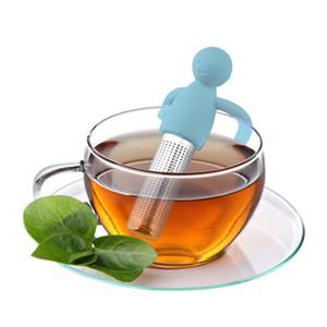 Sweet Leaf Tea Infuser de silicona reutilizable colador de té con una caída de la novedad de la bandeja de té de hierbas de la especia de la bola Herramienta Filtrar