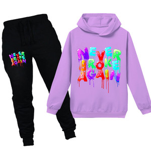YoungBoy Never Broke Again Fashion 2 Pieces Hooded Sweatershirts Teen Kids Tracksuit Sets Hoodie+Pants for Toddler Boy Girl