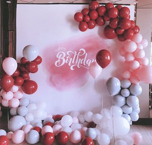160pcs 5inch / 10inch Grenat Rouge Balloon Arch Macaron Perle Latex Ballons Garland Kit De Mariage Anniversaire Baby Shower Parti Décor