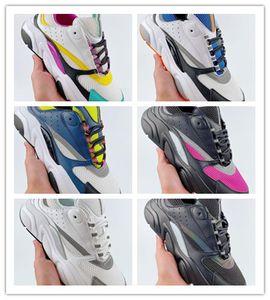 2020 En Yeni Lüks Tasarımcı Homme B22 Trainer Sneakers için Mesh Konfor Kalın Sole İçin Katma Kıtıklanması Erkekler Kadınlar Moda Baba Sporlar Koşu