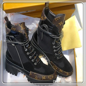 louis vuitton Lv Qualitäts-Frauen-Schuh-Knöchel Fashion Boots Warm Leder Big Size Laureate Plattform Desert Boot Femmes Luxury Woman