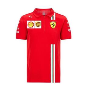2020 nouvelle F1 Formule 1 polo équipe de service Ferrari course costume manches courtes T VTT respirant manches revers descente courte