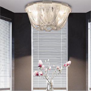 Catena Modern Style argento arte del panno di Lampada a sospensione a catena nappa alluminio flusso Atlantis Lampadari Lampada Lampada a sospensione a soffitto