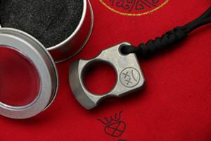 Andy Frankart SFK anneau seul doigt TC4 titane poignards punch Autodéfense exterieurs Boucle poche de survie phalanges EDC Knuck multi outils
