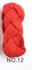 orange mazarine élastique à tricoter bande de cheveux à la main de laine fil bandeau accessoires pour chaud automne et d'hiver Cheveux Bandes