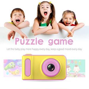 Çocuk Kamera Sevimli Anti-shake Oyuncak Seyahat HD Ekran Fotoğraf Karikatür Kamera Hediyeler Akülü Mini Dijital 2 Inç