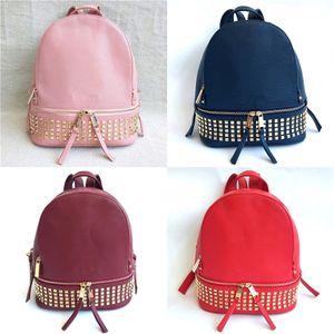 Micheal kor Designer Rucksack berühmte Marken-Rucksack Mode Litschi-Muster Geprägte Leder Akkordeon-Taschen-Tasche # 787