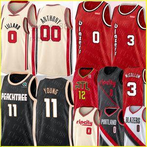 NCAA Trae 11 Jovem Jersey Damian Lillard 0 00 Jersey CJ 3 McCollum De'andre 12 Hunter Basketball Jerseys