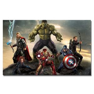 Poster Marvel Superhero Accrochage Silk Wall Art Prints Thor Hulk Iron Man