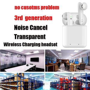 New Noise Cancel AP 3 Earbuds 3nd Generation Transparent GPS Rename TWS Bluetooth Earphones H1 Chip Wireless Charging Case Pro In Ear Pods