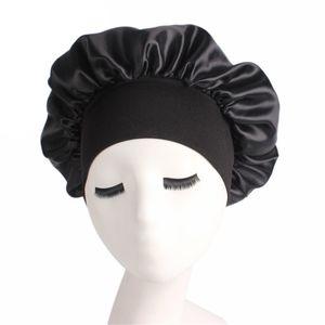 Long Hair Care Women Fashion Satin Bonnet Cap Night Sleep Hat Silk Cap Head Wrap Sleep Hat Hair Loss Caps Accessories