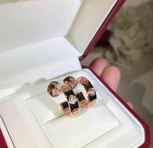 Luxury designer love earrings Classic series 925 sterling silver glossy screw print Single diamond earrings rose gold platinum and gold
