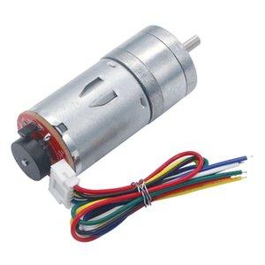 Редукторный-Motor 6v 210rpm кодировщик Мотор Gm25-370 Dc мотор шестерни 1:34 12 * d4 * 8 Power Accessories Инструмент для оборудования замедляющей
