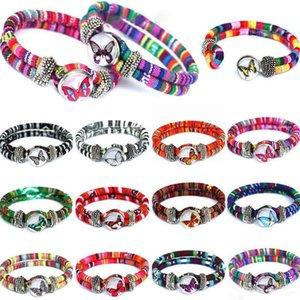 DIY Noosa Snap Button charm bracelets 18MM 18mm Ginger snaps butterfly Sign Ethnic Wrap bracelet For Women Men Fashion Jewelry