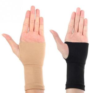 1pair hombres de las mujeres del pulgar ayuda de muñeca de la mano Guantes deporte al aire libre de la manga elástico Brace Deportes vendaje Guantes de seguridad Deportes