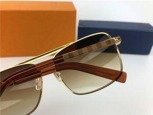 Otantik erkekler güneş gözlüğü tutum sunglass altın çerçeve Kare metal çerçeve vintage stil açık tasarım klasik modeli Z0259U