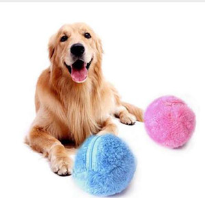 Magic Automatic Ball Chew Plush Floor Clean Toys Roller Ball Dog Cat Toy Activation Electric Pet Automatic Pet Plush Ball