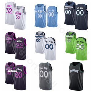 Sérigraphier Basketball Karl Anthony Towns Maillots D Angelo RUSSELL Jarrett Culver Jake Layman Josh Okogie Ville Terminé Earned Édition