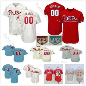 Coutume Maillot Homme Femme Phillies de Philadelphie Enfants Jeunes Baseball Maillots Domicile Extérieur surpiqué Logos Livraison gratuite