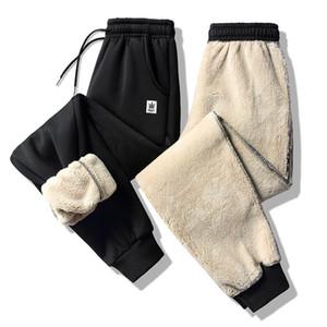 Corredores Calça Casual 2019 Calças de Inverno Calças Masculino Esportes Cordeiro Cashmere Grosso quentes calças Calça de Jogging magros Sweatpants 6xl 7XL