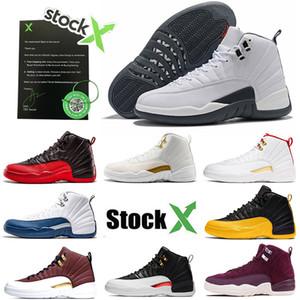 Nike Air Jordan Retro 12 Gioventù Maschile pattini di pallacanestro 12 12s gioco della palla Università Oro Bianco Grigio Sneakers Taxi CNY Mens Donne OFF Dimensione 7-13
