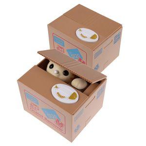 Money Bank Cat Panda Electric Cat Steal Automated Piggy Bank Moneybox Money Saving Box Ornament Toys for Children