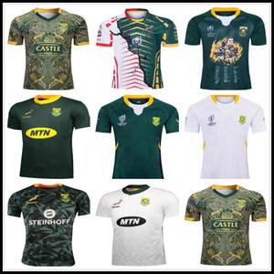 2019 2010 comemorativa camisa da edição África do Sul Africano 100º aniversário 2019 da equipe nacional jérseis camisas de rugby CAMPEÃO JOINT VERSÃO