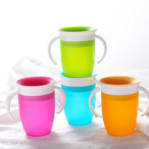 Bebê que aprende Beber Cup Silicone instrutor Cup infantil Leak Proof Copo Drinking Garrafa de água Crianças Sippy Cups Coffee Cole Tumbler D128