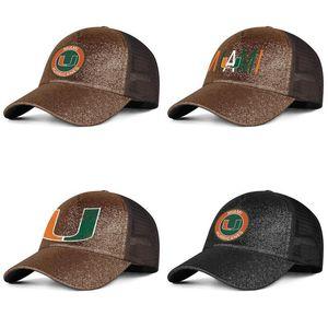 Miami Hurricanes круглый логотип для мужчин и женщин Pony hat cap cool blank team best baseballhats football old Print logo флаг США футбол