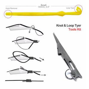 Attrezzi per la pesca 2 pc / insieme Hook Loop Strumento Tie veloce Knot Tying strumento per la pesca a mosca Hook Line Tools Tier kit in plastica