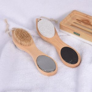 Four in one foot grinder wood bristle cuticle removing and multi-functional foot Pumice brush bath SuppliesT2I51036
