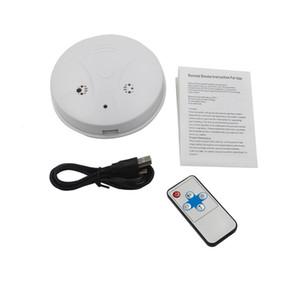 Smoke Profissional Detector mini câmera com controle remoto de detecção de movimento 720 * 480 30fps filmadora mini gravador de vídeo de segurança em casa branca