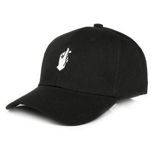 Seioum Mode Coton Main Rose Ok Love Gestes Doigt Snapback Hats Caps Casquettes de baseball pour hommes Femmes Casquette adulte réglable