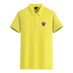 OGC Nice 2020 kısa kollu tişört erkek iş spor futbol gündelik düz renk yaz yeni polo gömlek DIY eğilim erkek polo olabilir