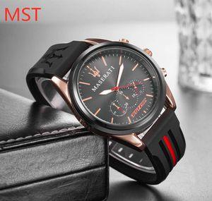 Wholesale Cheap Mens Luxury Watch Male Sport Wristwatch Designer Watches Quartz Movement Rubber Strap Fashion Clock Dropshipping 1