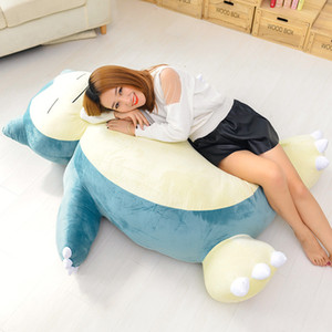 [TML] 지퍼 아이 선물 대형 크기 150cm 애니메이션 소프트 동물 Snorlax 인형 봉제 인형 베개 침대 만 커버 (없음 충전)