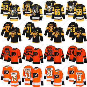 Pittsburgh Penguins Crosby 87 71 66 Malkin Lemieux 58 Le jersey Flyers de Philadelphie Letang 79 28 Hart Giroux 14 maillot de hockey Couturier