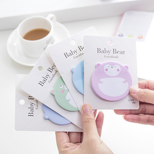 Lovely Creative New Animal Baby Bear Office Novelty Sticky Notes Planner Stickers Page Index Post School Stationery Supplies