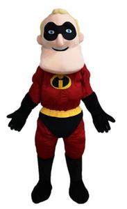 Drôle Superhero mascotte Costumes Cartoon costume de mascotte pour les enfants de fête d'anniversaire personnalisés à Arismascots Mascots caractère Design Company