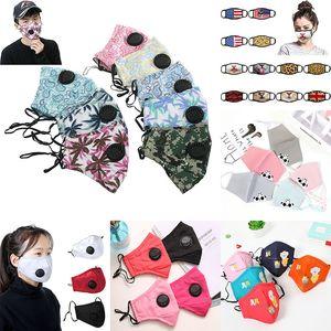 Respirare Valve Anti Polvere maschera di protezione pieghevole senza valvola di protezione antipolvere PM2.5 viso maschere di trasporto