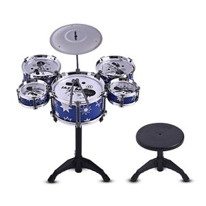 Children Kids Jazz Drum Set Kit Musical Instrumento educativo de juguete, Gran juguete musical para desarrollar el talento musical de los niños