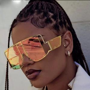 Gafas de sol de gran tamaño Las gafas de sol 2019 gafas de sol de los hombres de lujo de época cuadrado retro para hombre de gafas de sol Gafas de sol