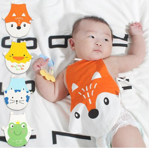 Babero grande delantal del bebé recién nacido Maniquí para Alimentar Niño Niña de dibujos animados Fox Pato Patrón eructar toalla de tela