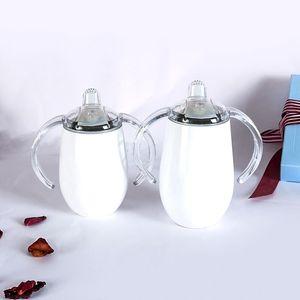 12OZ الفولاذ المقاوم للصدأ معزول البهلوانات مع غطاء البيض الكؤوس جدار مزدوج بهلوان أكواب القهوة النبيذ الزجاج والتعامل مع هدايا عيد الميلاد DBC DH1092-1