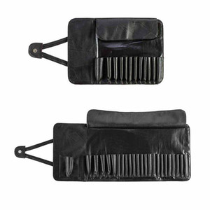 12 24 Slot Unisex Foldable Makeup Brush Holder Cosmetic Organizer Rolling Bag Case Storage Container Pouch Bags