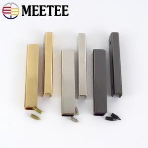 Meetee Borsa da 5 cm Bordi angolari Protezione Viti in metallo Fermagli per clip Borsa Borsa Decorazione Angoli Accessori per bagagli fai da te