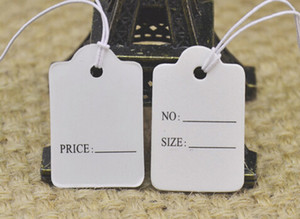 1.8*2.8 Sign label tag card Strung Garment Gift hang tag prestring black Packaging Label Merchandise sling Tags paper size card