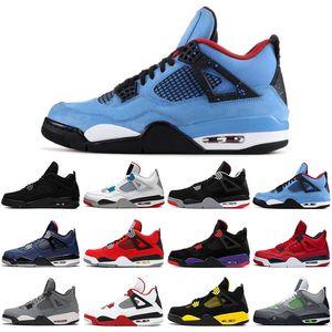 Jumpman 4 4s hommes de chat noir baskeball nouvelles chaussures ce que le feu rouge jack cactus élevé baskets sport chaud punch formateurs mens