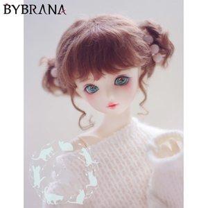 Bybrana BJD кукла с париком 1/8 1/6 1/4 гигантский ребенок 1/3 мохер красно коричневый двойной клецки волосы T200428