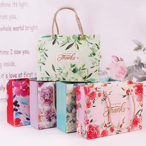 핸들 21x15.5x7cm DIY 다기능 축제 선물 가방 웨딩 파티 선물 스토리지 케이스 식기의 LX2391와 종이 가방